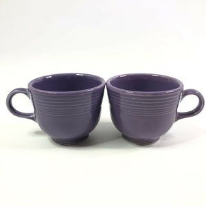 Fiestaware Lilac Purple Tea Cups Set of 2 7 3/4oz
